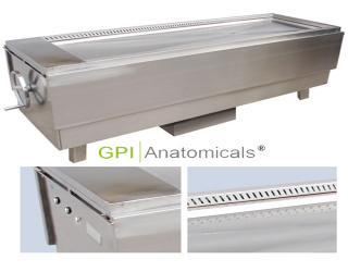 GPI/KDF-CRK75豪华多功能不锈钢抽风浸泡解剖台 (手摇升降)