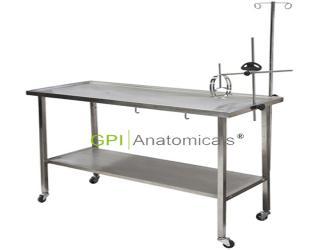 GPI/KDF-CRK91-1A高级不锈钢狗兔解剖台 移动式