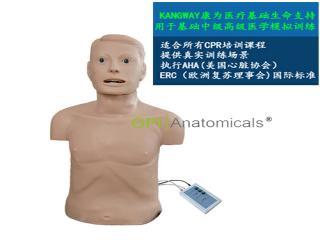 GPI/CPRJ158-B高级心肺复苏带气管插管半身模型-青年版带CPR电子报警