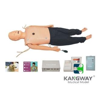 高级多功能急救训练模拟人(心肺复苏CPR、气管插管、除颤起搏四合一功能、嵌入式系统